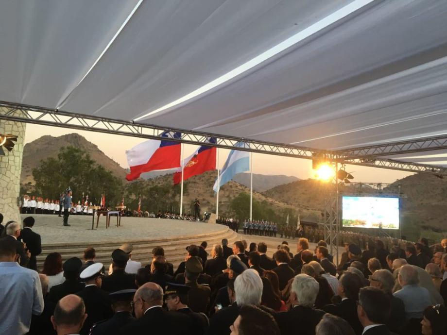 Con Sergio Uñac, Argentina y Chile conmemoraron la Batalla de Chacabuco