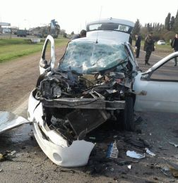Sanjuanino protagonizó un impresionante choque en General Arenales - Accidente General Arenales