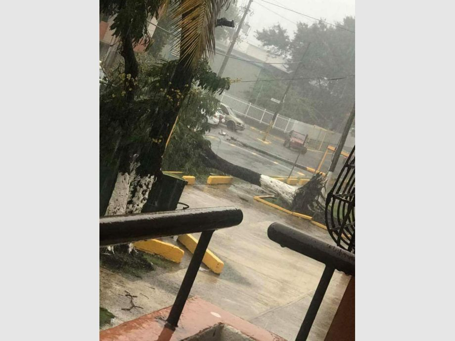 Debris is seen following high winds as Hurricane Irma nears San Juan, Puerto Rico - Debris is seen following high winds as Hurricane Irma nears San Juan, Puerto Rico September 6, 2017, in this image taken from social media.  Mandatory credit NICOLE PELLOT/Handout via REUTERS   ATTENTION EDITORS - THIS IMAGE HAS BEEN SUPPLIED BY A THIRD PARTY. NO RESALES. NO ARCHIVE. REUTERS IS UNABLE TO INDEPENDENTLY VERIFY THE AUTHENTICITY, CONTENT, LOCATION OR DATE OF THIS IMAGE. - 3TP MNDTY NARCH/NARCH30 - Huracán Irma