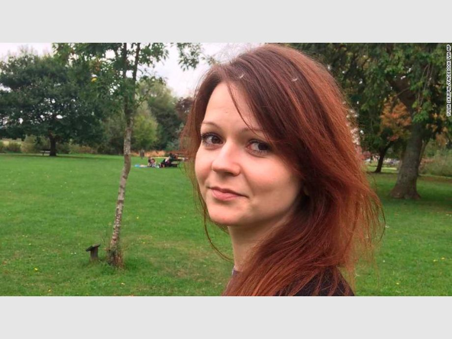 This is an alleged  image of the daughter of former Russian Spy Sergei Skripal,  Yulia Skripal taken from Yulia Skipal -
