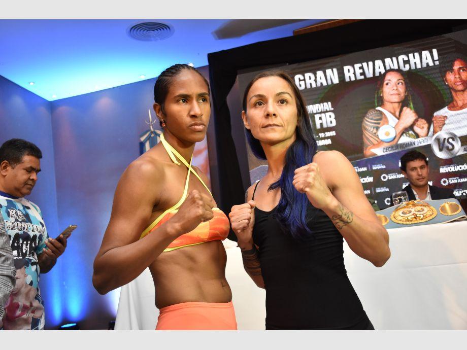 Román y Lozano superaron a la balanza y ya están listas para la revancha - Boxeo