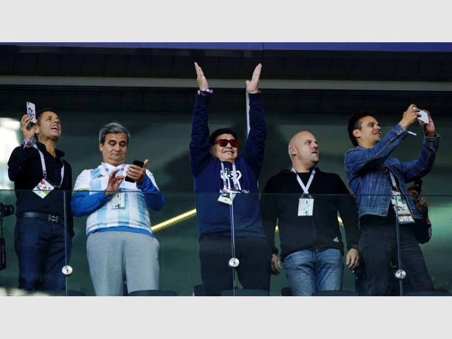 Diego Maradona se llevó la mayor ovación en Moscú
