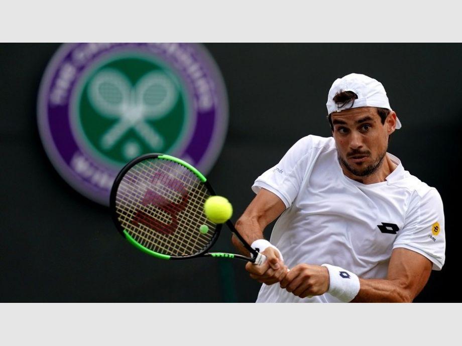 Guido Pella dio la sorpresa en Wimbledon y eliminó a Marin Cilic