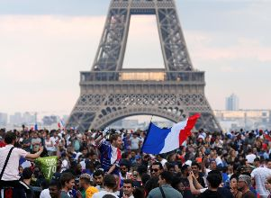 World Cup - Final - France fans watch France v Croatia - Mundial de Rusia 2018