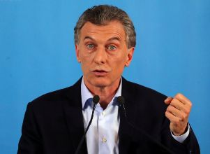 Argentina's President Macri speaks during a news conference at the Olivos Presidential Residence in Buenos Aires -