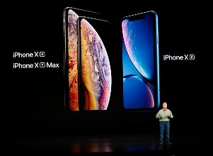 Schiller Senior Vice President, Worldwide Marketing of Apple, speaks about the new Apple iPhone XR at an Apple Inc product launch in Cupertino -