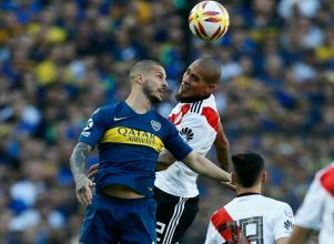 (Nicol�s Aboaf) - Superliga Superclásico Boca River