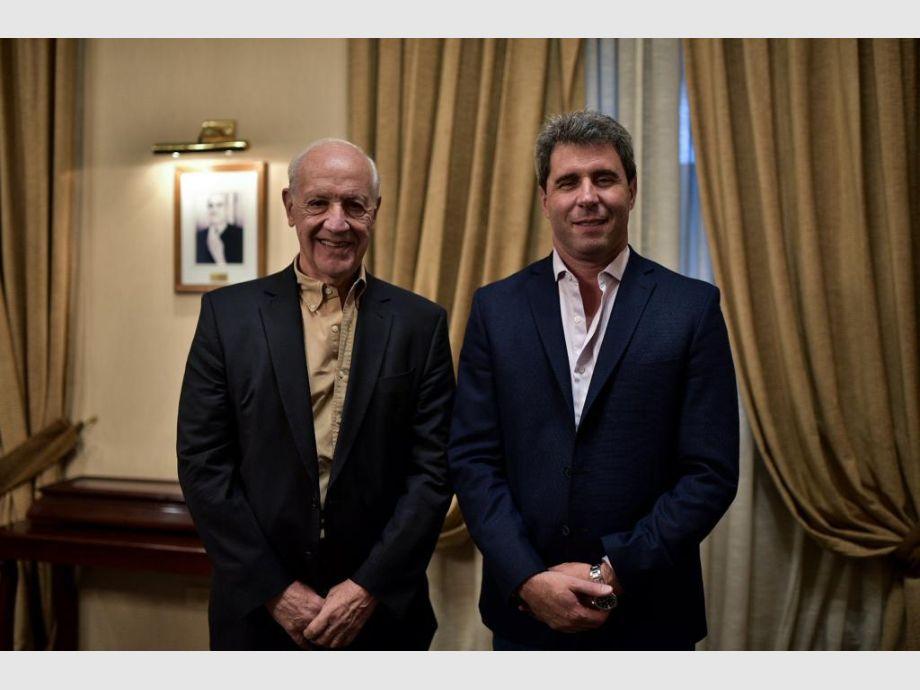 Sergio Uñac recibió a Roberto Lavagna -