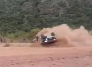 Video: espectacular vuelco de la camioneta manejada por un sanjuanino -