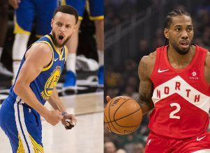 Un auténtico David y Goliat  - BÁSQUETBOL NBA Golden State Warriors Toronto Raptors