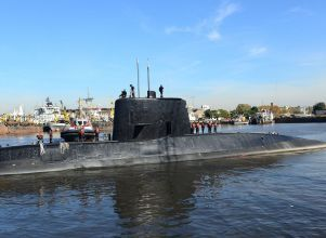 Wreckage of Argentine ARA San Juan submarine found, Argentine navy says - Buenos Aires (Argentina), 17/11/2018.- (FILE) - A handout file photo made available by the Argentine Navy on 17 November 2017 shows the ARA San Juan submarine (re-issued 17 November 2018). The wreckage of a submarine which went missing with 44 crew on board a year ago has been found, the Argentine navy announced on 16 November 2018. The ARA San Juan submarine disappeared some 430km (270 miles) off the Argentine coast on 15 November 2017. EFE/EPA/ARGENTINA NAVY HANDOUT HANDOUT EDITORIAL USE ONLY/NO SALES - HANDOUT EDITORIAL USE ONLY/NO SALES - Desaparición del submarino San Juan