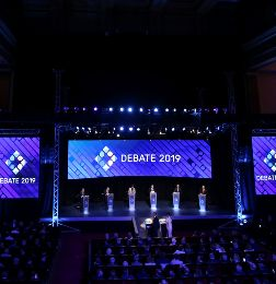 Presidential debate ahead of the October 27 presidential election, at the University of Buenos Aires - debate presidencial