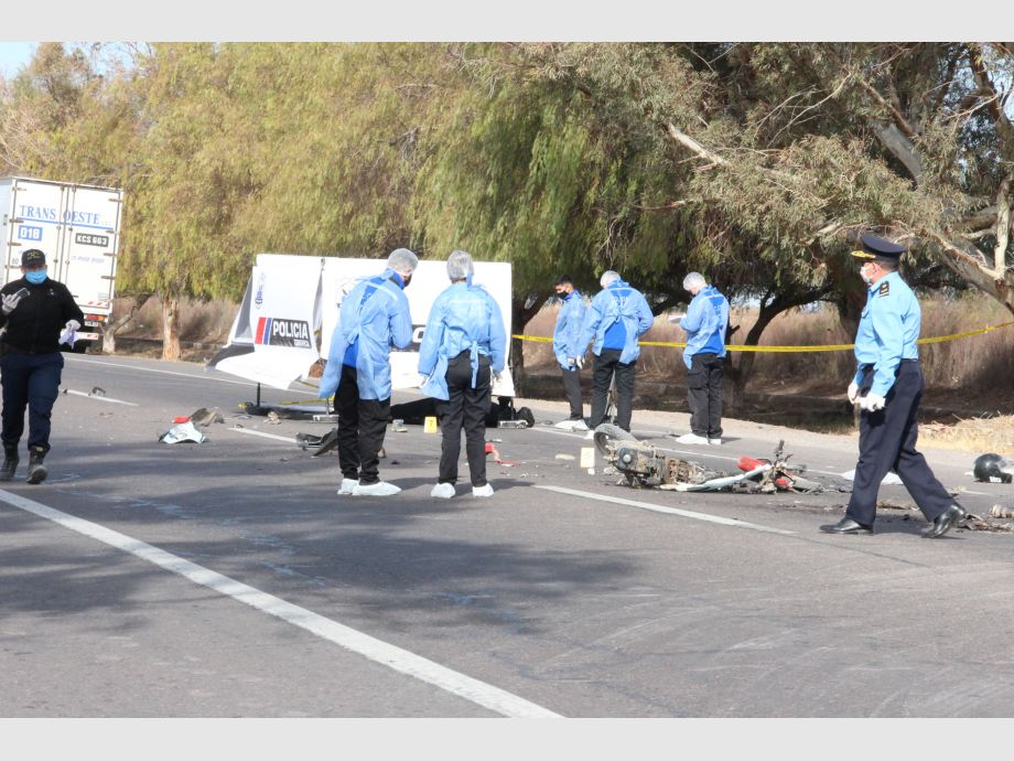 Identificaron al motociclista de la tragedia en la Ruta 20: tenía 60 años - 9 de julio ruta 20 muerto choque