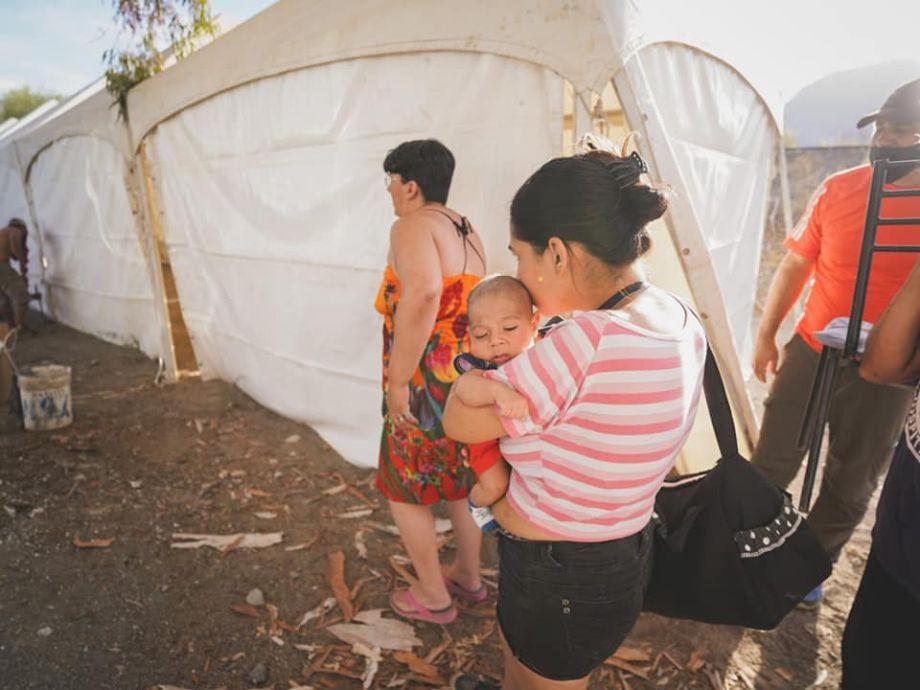 Carpas y ollas populares para asistir a más de 500 familias tras el terremoto - Terremoto en San Juan Pocito Asistencia social