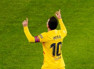 FILE PHOTO: La Liga Santander - Athletic Bilbao v FC Barcelona - Lionel Messi