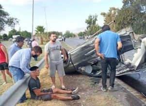 VIDEO: imágenes del brutal accidente en Rawson -