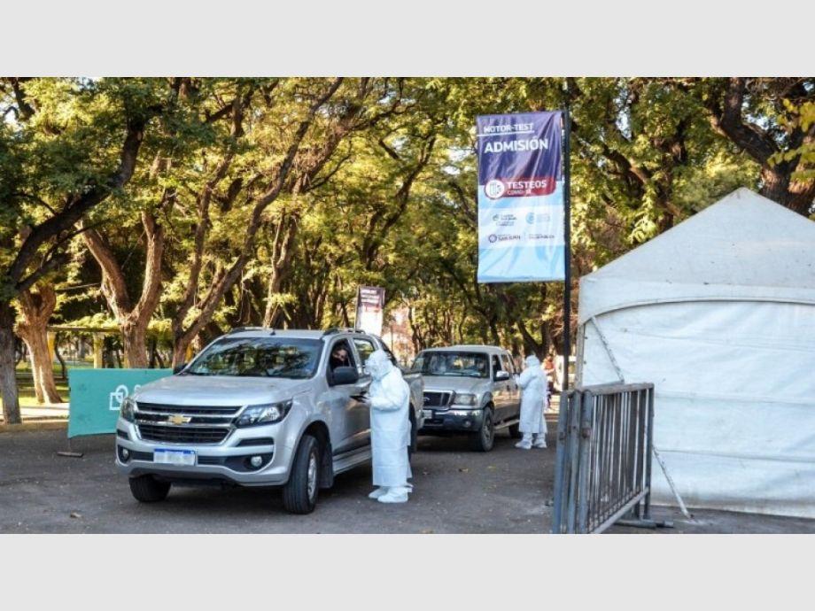El 40,3% de los sanjuaninos que pasaron por el MotorTest dio positivo de Covid -