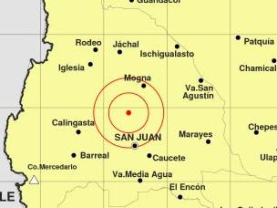 Un temblor de 4,6° sacudió el suelo sanjuanino -