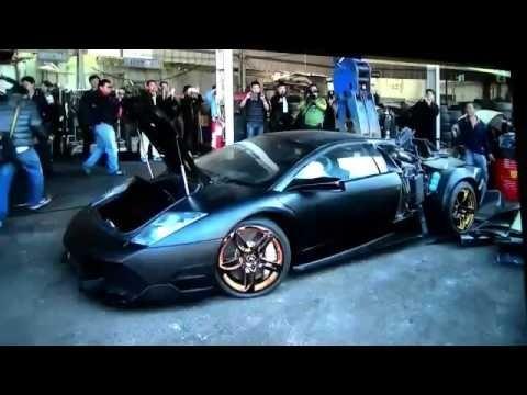 YouTube: Policía destruyó sin piedad un lujoso Lamborghini confiscado