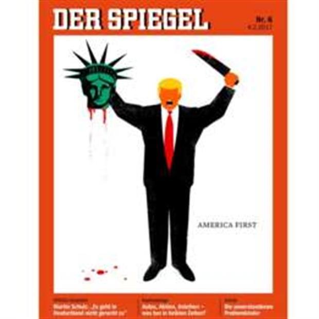 Las portadas del semanario alemán Der Spiegel protagonizadas por Donald Trump