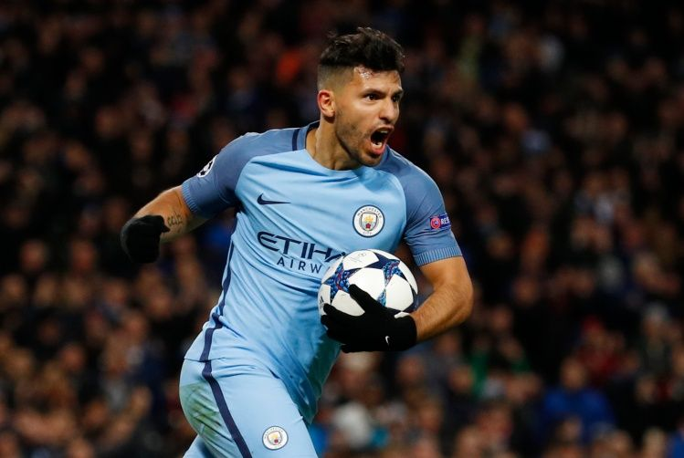 Manchester City's Sergio Aguero celebrates scoring their second goal - 17-CCT51731