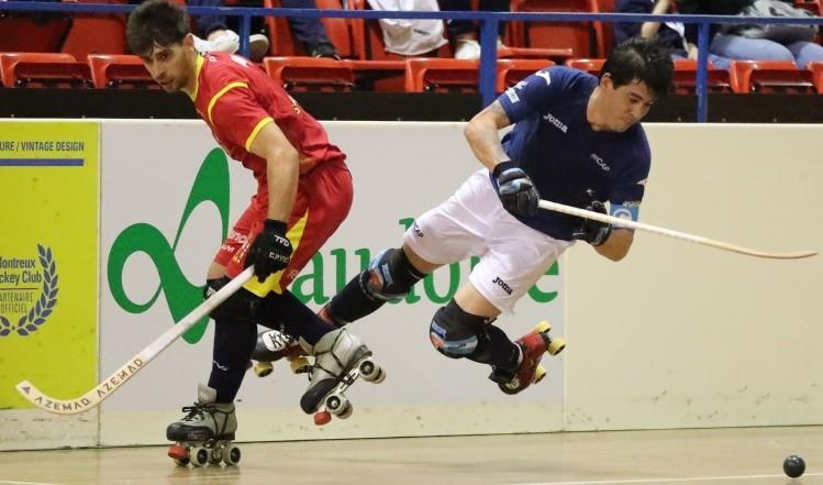 Festejo argentino sobre patines