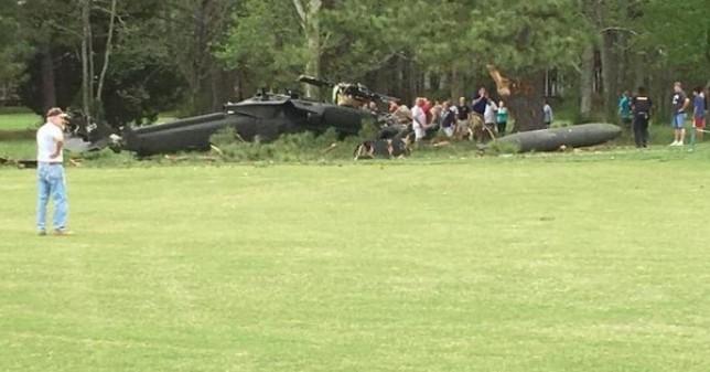 Se desploma helicóptero del ejército de EU en Maryland