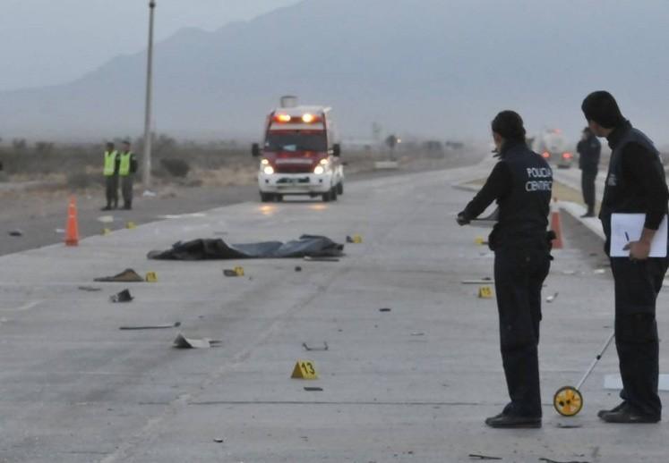 Accidente con dos muertos en la Ruta 40