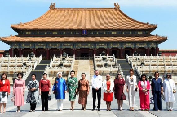 Juliana Awada se reunió con su par en China, Peng Liyuan