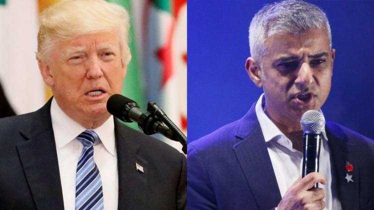 Fuerte crítica de Donald Trump contra el alcalde de Londres