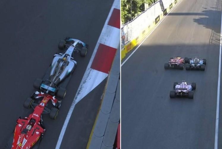 Ricciardo prevaleció en Azerbaiyán