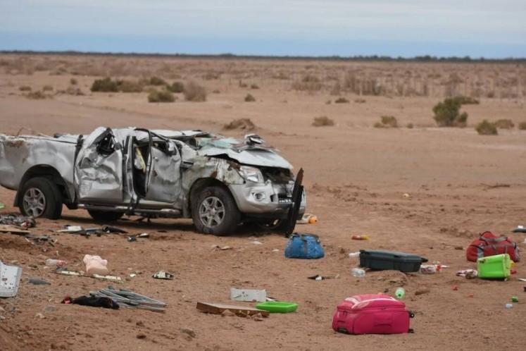 Tres personas fallecieron tras un vuelco en Ruta 40
