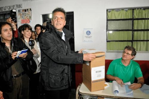 Votó Sergio Massa: Con Margarita