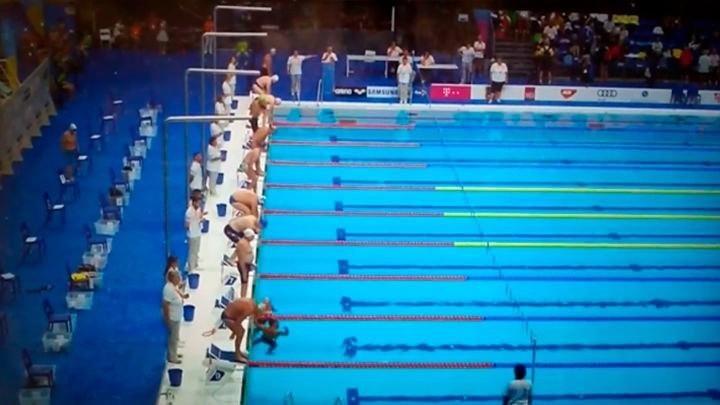 Un nadador español hizo un minuto de silencio mientras el resto competía