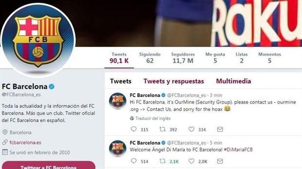 Barcelona anunció en Twitter la incorporación de Di María d2f31cbee23
