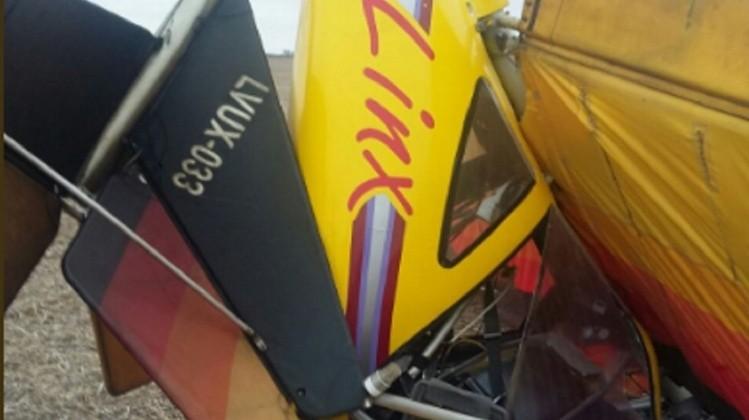 Se desplomó una avioneta ultraliviana — Tragedia en Pehuajó