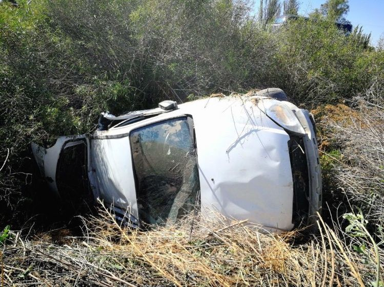 Un hombre murió luego de volcar en la Ruta 40