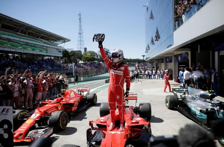 Sebastián Vettel se lleva el GP de Brasil de la F1