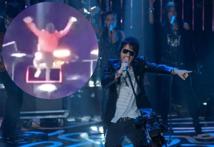 Beto Cuevas cae en el Pop Tour