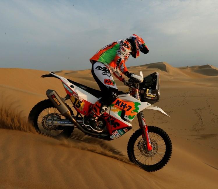 Kevin marca el camino en el Dakar 2018