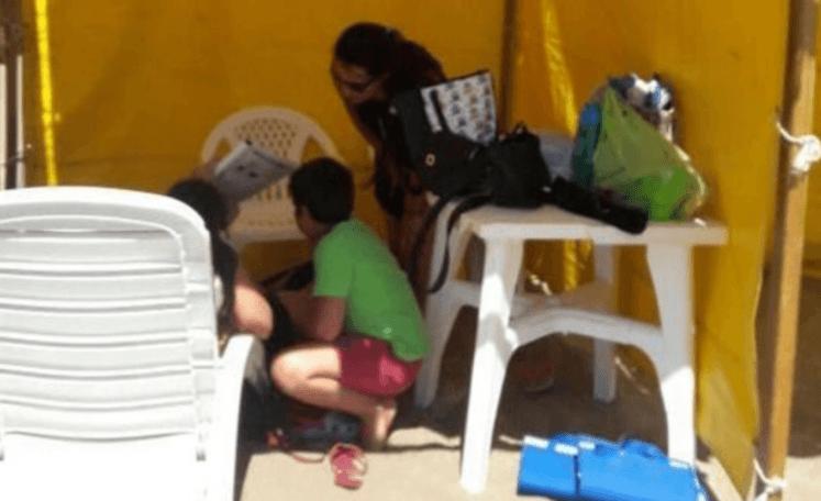 Cayó el parante de una carpa y le fracturó la cabeza a un niño en San Clemente