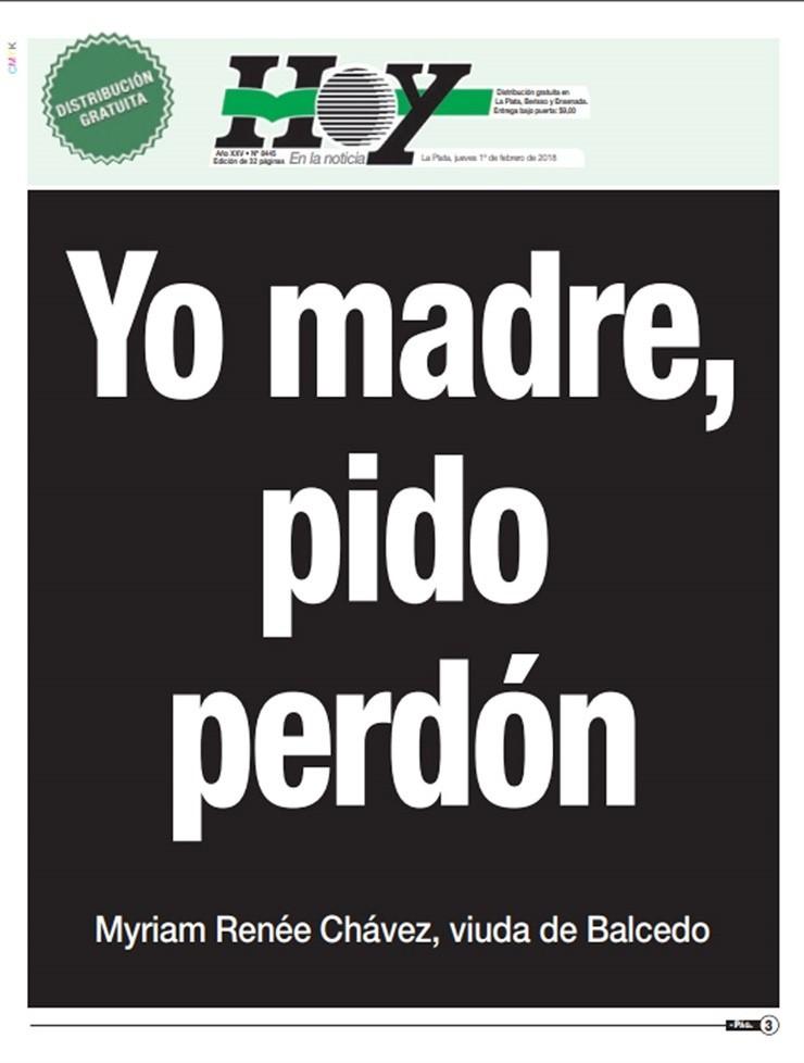 Resultado de imagen para MADRE BALCEDO pido perdon