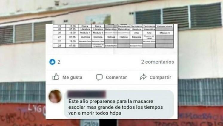 Un exalumno amenazó con producir una masacre en una escuela — Florencio Varela