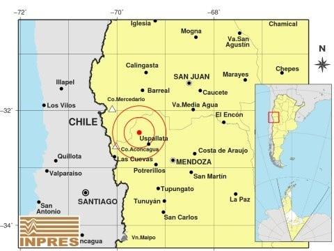Un fuerte temblor se registró en Mendoza