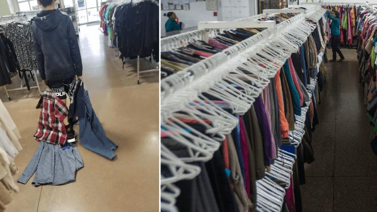 una madre obligó a su hijo a vestirse con ropa usada tras burlarse