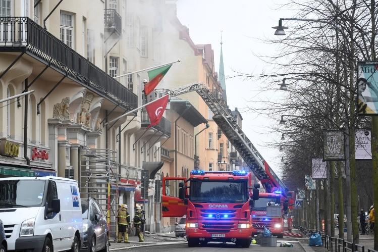 Incendio en embajada argentina en Suecia: varios heridos y un detenido