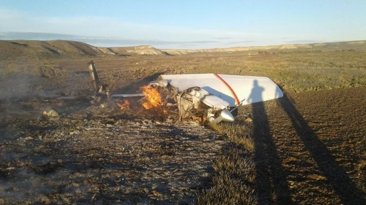 Cayó una avioneta en Península Valdés y dos ocupantes murieron calcinados