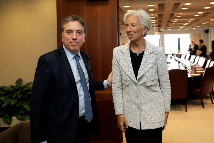 IMF Managing Director Christine Lagarde meets with Argentina's Treasury Minister Nicolas Dujovne in Washington