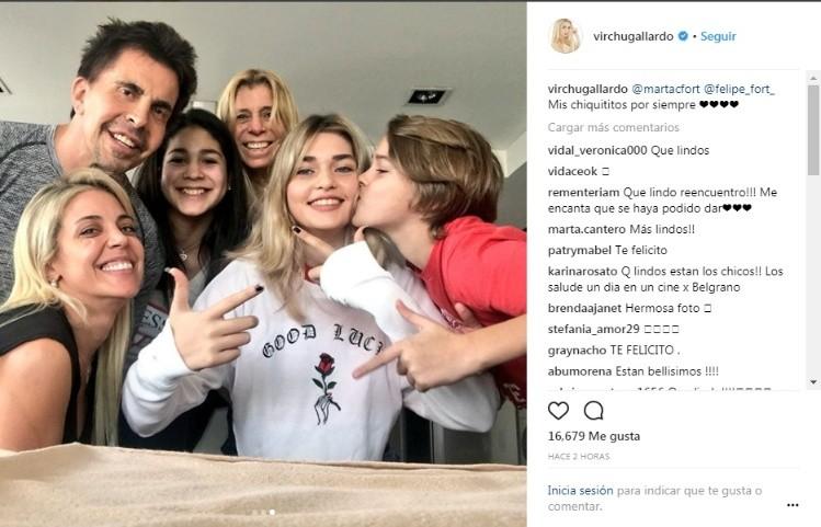 978b38c66 Virginia Gallardo se encontró con los hijos de Ricardo Fort