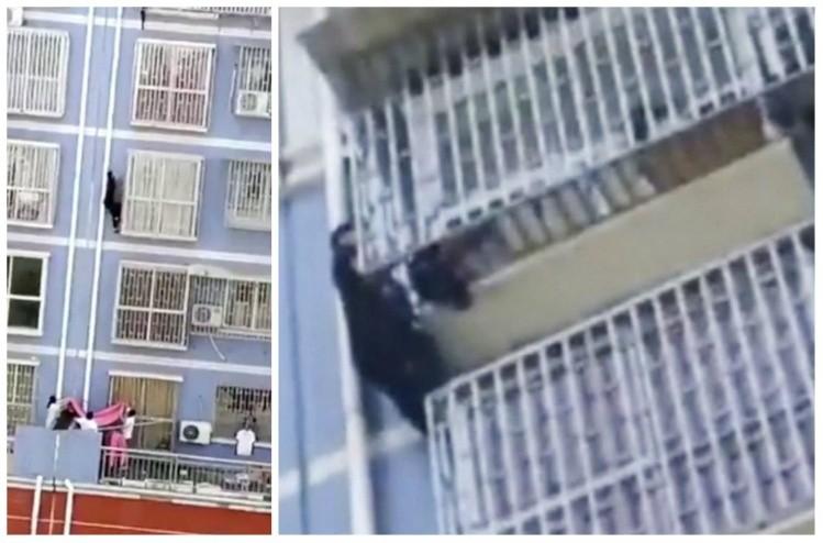 Aparece otro 'Spiderman', escala 5 pisos y salva vida de un niño